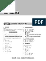 Rangkuman Materi  Matematika
