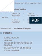 Presentation on various turbine