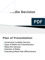 Advertising Media Decision