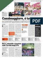 La Gazzetta dello Sport 17-05-2015 - Pallavolo Femminile