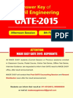 GATE 2015 CE-1 Solutions