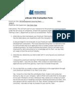 Practicum Site Evaluation Form
