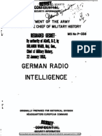 FMS P-038 German Radio Intelligence