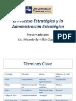 1. 1 El Proceso Estratégico y La Administración Estratégica