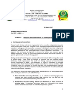 Philippine National Standards for Drinking Water 2007(1)