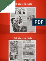 20 años sin Lola