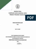 Soal Osn Guru Matematika Smp Tingkat Provinsi 2014