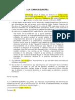 2010 01 20 Denuncia Comision Europea Monopolio