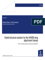 Hybrid Structure Solution for the A400M Wing Attachment Frames