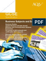 AQA GCSE Specification 2010 Business and Business Related Subjects