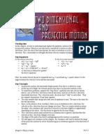 2-D & Projectile Motion
