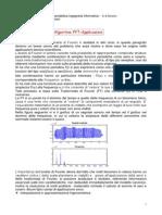 Trasformata Discreta Di Fourier,FFT Ed Applicazioni