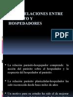 Interrelaciones Entre Parasito y Hospedadores m
