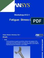 _Ansys - Work Shop - Fatigue - Stress vs Life