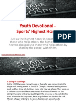 Youth Devotional - Sports' Highest Honor
