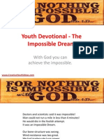 Youth Devotional - The Impossible Dream