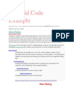 Android Code Examplere