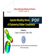 Injection molding simulation