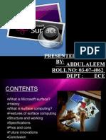 19937147 Microsoft Surface Ppt