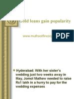 gold loans gaining popularity