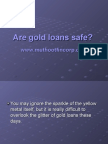 are gold loans safe?