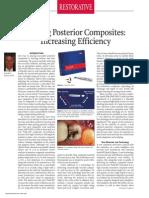 Placing Posterior Composites Increasing Efficiency