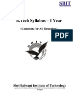 B.tech MDU Syllabus (I Year - Common for All Branches)