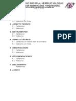 informe de cartaboneo y medición con cinta