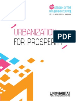 Urbanization for Prosperity Policy Statement 25th Session of the Governing Council