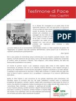 Aldo Capitini testimone di pace