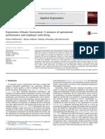 Ergonomics Climate Assessment: