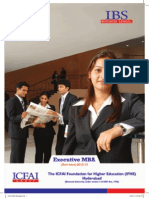 ICFAI HYDERABAD  EXE-MBA-2015