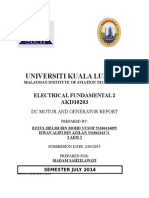 Electrical Fundimental Report Dc Genrator