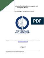 Polineuropatía Paciente Critico Cochrane 2015