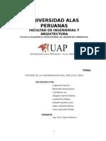 Historia de La Contaminacion del Aire en el Peru