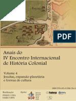 Vol. 4 - Jesuítas, Expansão Planetária e Formas de Cultura - ANAIS IV EIHC