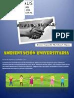 Ambientación Universitaria de Óptica 2013