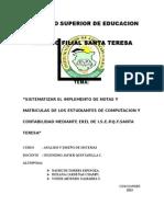 INSTITUTO COCALMAYO SANTA TERESA PROYECTO