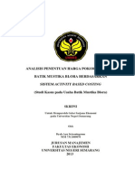 Analisis Penentuan Harga Pokok Produksi Batik Mustika Blora