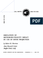 SIMULATION OF METEORQID-VELOCITY IMPACT BY USE F DENSE PROJECTILE