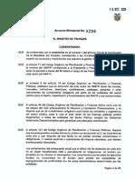 Acuerdo Ministerial 290