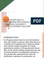 Aplicación de La Programacion Lineal en La Empresa