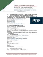 Estudio de Impacto Ambiental Pistas y Veredas Las Palmeras