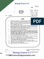 CSIR UGC NET JRF Life Sciences June 2013 Question Paper