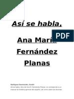 Así Se Habla, M. Fernández Planas