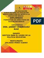 ENSAYO GESTION PARA EL LOGRO POLITICA EDUCATIVA.doc