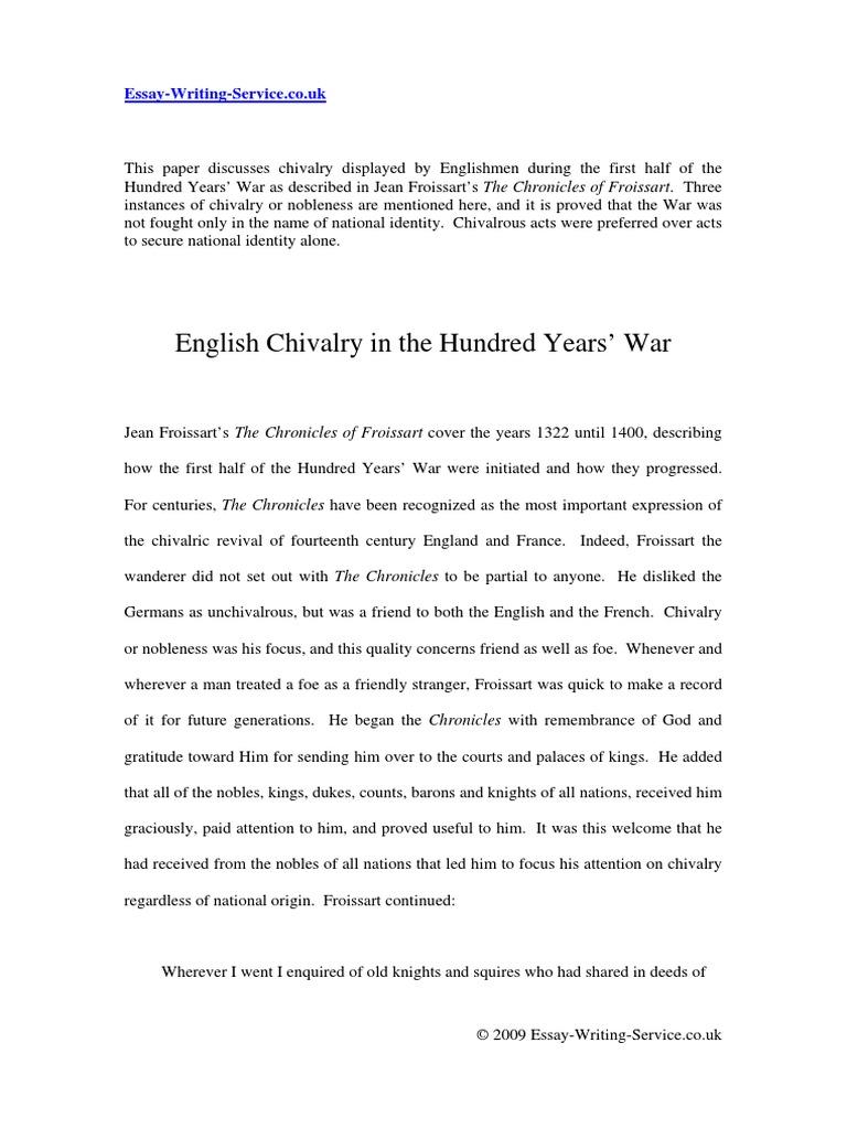 chivalry essay