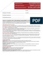 2007-2008 Classified Evaluation & Goals