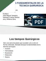 Tiempos Fundamentales de La Tecnica Quirurgica Slides
