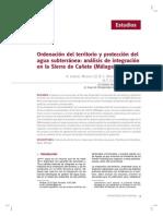 Ordenacion Del Territorio y Proteccion Del Agua Subterranea